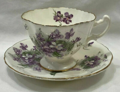 Hammersley Bone China Victorian Violets Cup & Saucer Made in England 4 available