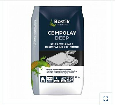 4 X Bostick Cempolay Deep Self Leveling Compound Cement 20kg Bags