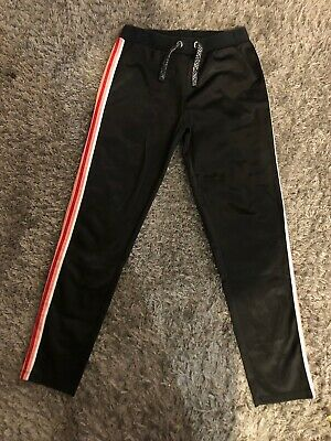 Miss Evie Black Tracksuit Bottoms Age 9-10 Years (j3)