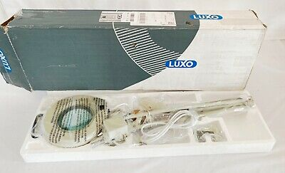 "NEW Luxo Illuminated Magnifying Lamp Light 38"" Swing Flex Arm Drafting Work"