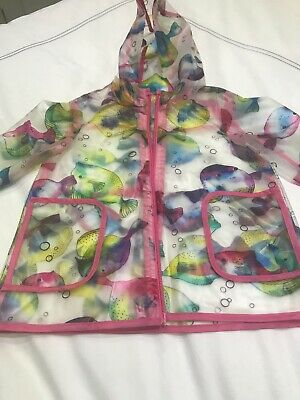 Next Baby Girls Rain Coat Age Size 9-12 months Worn Once Excellent Condition