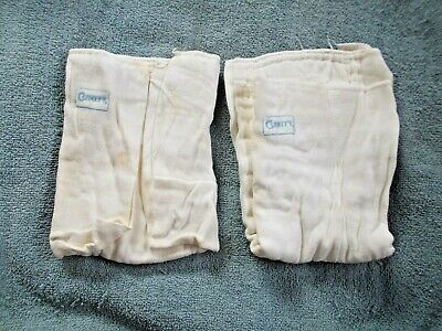Lot of 2 Vintage Curity Cloth Diapers