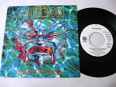 """THE MISSION Shades Of Green  7"""""""