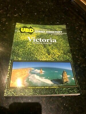 UBD Street Directory-8th Edition-Victoria Cities & Towns-1991-320 pages-Rarer.