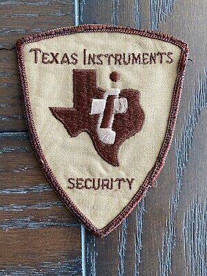 "VTG Texas Instuments Security Patch Brown & Tan 4-3/8"" X 3.5"""