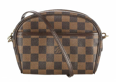 LOUIS VUITTON Brown Damier Ebene Canvas Pochette Ipanema Bag
