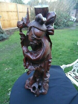 Antique Oriental Japanese/Chinese Wood Carving Figurine
