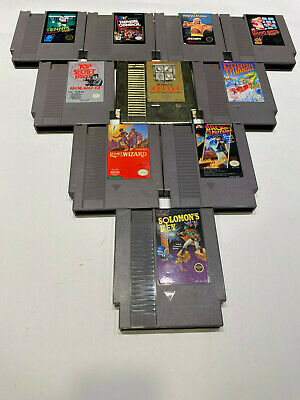 10 GAME LOT NES Nintendo AUTHENTIC ZELDA, SOLOMONS KEY, MARIO,BACK TO THE FUTURE