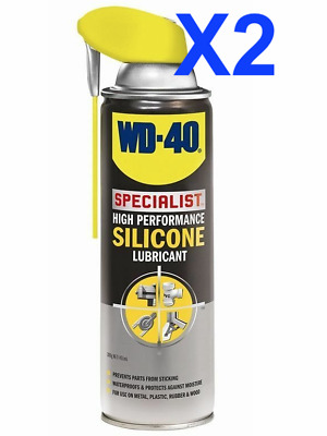 X2- WD-40 Specialist High Performance Silicone Lubricant with Smart Straw 400ml