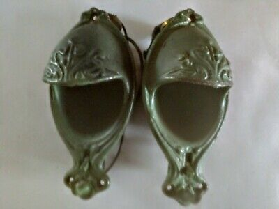 Pair of Industrial Age Cast Iron Railroad Wall Sconces With Light & Hook.