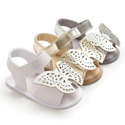 Infant Baby Girl Toddler Summer Flats Sandals Casual Three Butterfly KW119