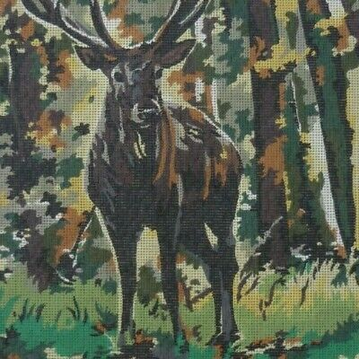VINTAGE MARGOT TAPESTRY CANVAS - THE DEER ( LE CERF ) 51 x 38 cm's NO WOOLS