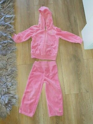 Superb Little Girls Designer Juicy Couture Tracksuit Set Aged 2 Years Rrp £50