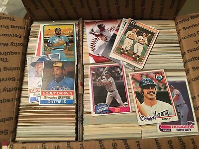 Huge Lot Of 3000+ Baseball Cards 1970'S - Now, Rookies, Subsets And Rarities