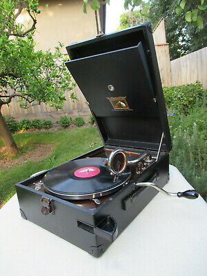 Vintage HMV Gramophone Phonograph Portable Model 101    C1930  *Superb*