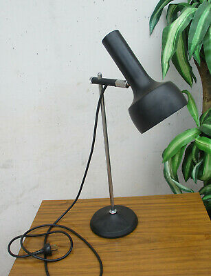 Classic Retro Style Table Lamp, Chrome Stem. Heaby Metal Base. Working
