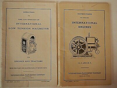 2 International Harvester Manuals; International Engines & Low Tension Magnetos