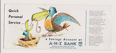 Vintage ANZ Bank advertising promotional blotter.