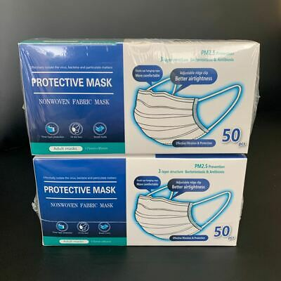 Protective Adult Face Mask 3Layers 100Pcs/Pack CE certified