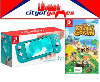 Nintendo Switch Lite Console - Turquoise & Animal Crossing: New Horizons Game