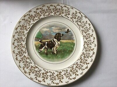 Antique Plate Kirklands Embassy Ware With Hunting Dog (Spaniel)