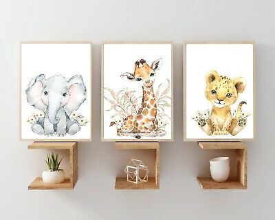 Safari tropical Nursery Wall Prints, nursery wall prints,Safari Decor,