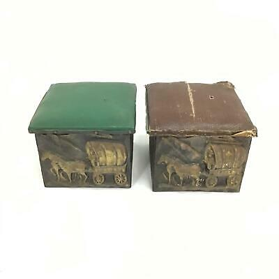 Anitques - Two Vintage Decorative Fireside Hearth Wood / Coal Box   #710