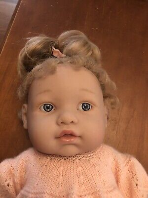 "Berenguer Lots To Love 16"" Vinyl Doll, Hand Knitted Clothes! Hard To Find"