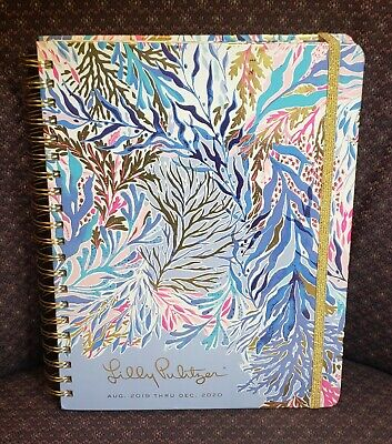 Lilly Pulitzer Large 17 Month Agenda/Planner Aug 2019 Dec 2020 Hard Cover Floral
