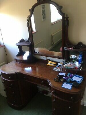 Antique Victorian Dressing Table & Mirror