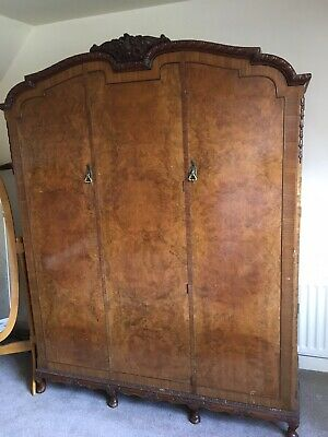 Beautiful Late Victorian Walnut Wardrobe