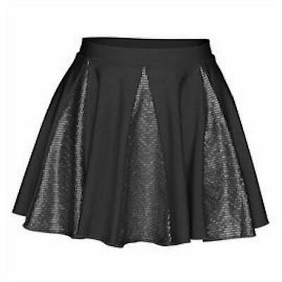Starlite Hologram Crystal Dance Skirt in Black