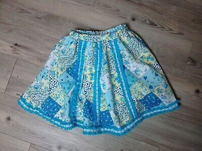 Vintage 1960s Childs Girls Skirt Cotton with Nylon Ruffle & Lace Age 2-4 Approx