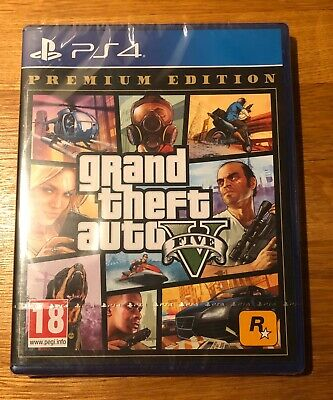 • Grand Theft Auto V • GTA 5 • Premium Edition • New • Sealed • Sony • PS4 •
