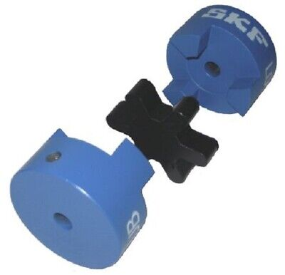 SKF STRAIGHT JAW COUPLING 21mm Length, 44.5mm OD, 9mm Bore, Set Screw Fastening