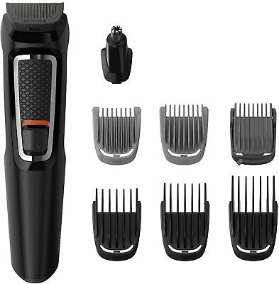 Philips Barbero MG3730/15 Recortador de Barba y Precisión 8 en 1 Autoafilable