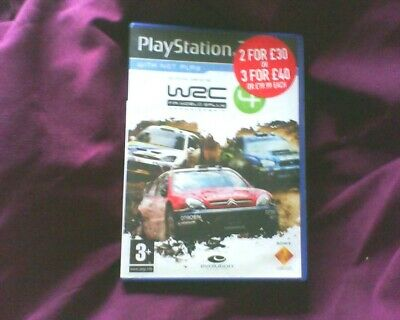 Playstation 2 Version Of Wrc 4 Inlay Or Artwork Only