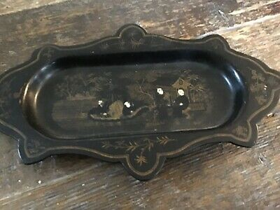Antique Chinese or Japanese Tray Lacquer