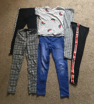 Girls Bundle Jeggings Leggings Trousers & Top Age 11-12