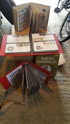 17 Kg Box Of Philatelic Treasure GB And World  Albums Stamps, covers kiloware