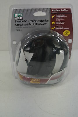 Safety Works Bluetooth Hearing Protection SWX00260 NEW Noise Reduction Ear Muff