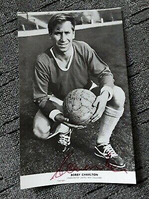 Sir Bobby Charlton Signed Original Photo. Manchester United & England