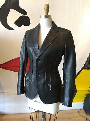 Junya Watanabe Comme Des Garcons Fitted Black Leather Jacket 2011 Japan