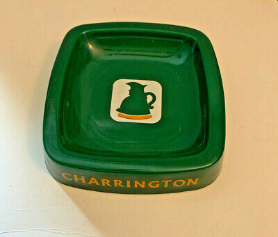 """CHARRINGTON """"TOBY Best Pale Ale"""" Green Glass British Beer Ashtray"""