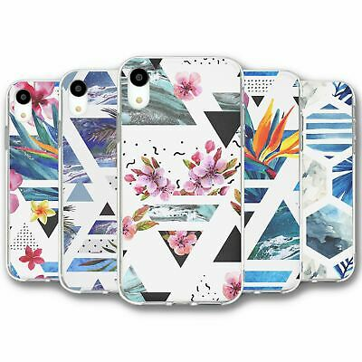 For iPhone XR Silicone Case Cover Geometric Collection 13