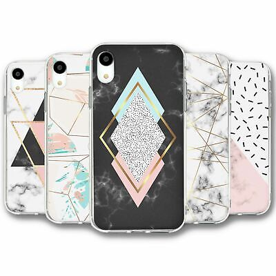 For iPhone XR Silicone Case Cover Geometric Collection 4