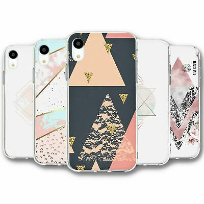 For iPhone XR Silicone Case Cover Geometric Collection 5