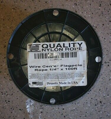 """Quality Nylone Rope Wire Center 1/4"""" 100ft New"""