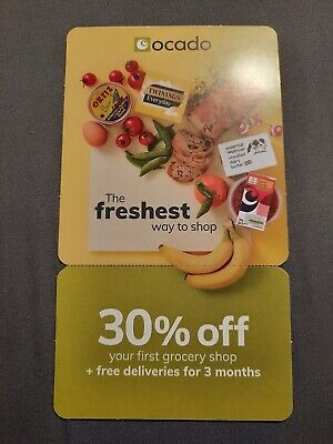 Ocado Voucher For 30% Off Your 1St Shop + £0 Delivery For 3 Month Until 25/03/20