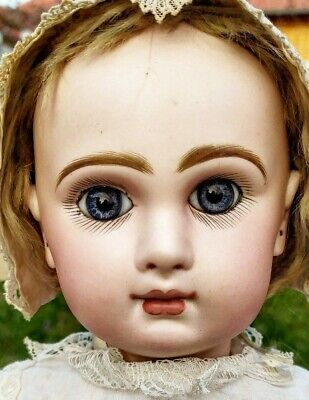 Amazing Antique French Bisque BeBe Jumeau Size 9